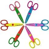 Lot de 6 ciseaux à papier décoratifs - Ciseaux zigzag - Idéal pour les instituteurs, le bricolage, le scrapbooking, les enfants, etc
