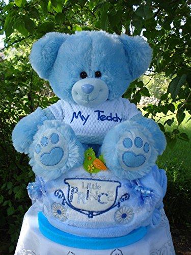 """Windeltorte""""My Teddy und Babydecke""""blau,Geburt,Taufe,Hochzeit"""