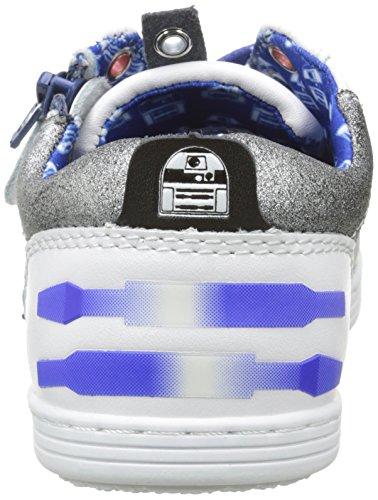 Kickers - R2-d2 K L, Scarpe da ginnastica Bambino Bleu (Bleu/Blanc)