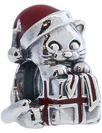 Pandora 792007EN39 süßes Weihnachts - Kätzchen mit Geschenk - Winter Neuheit 2016