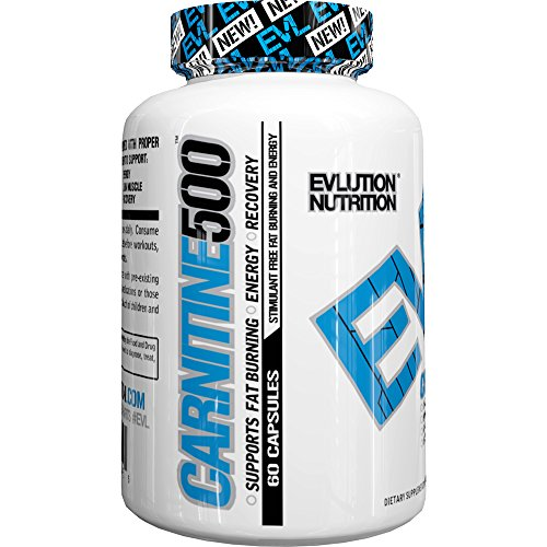 Evlution Nutrition Carnitine500 500 mg of Pure L-Carnitine in Each Serving (60 Serving, Capsule)