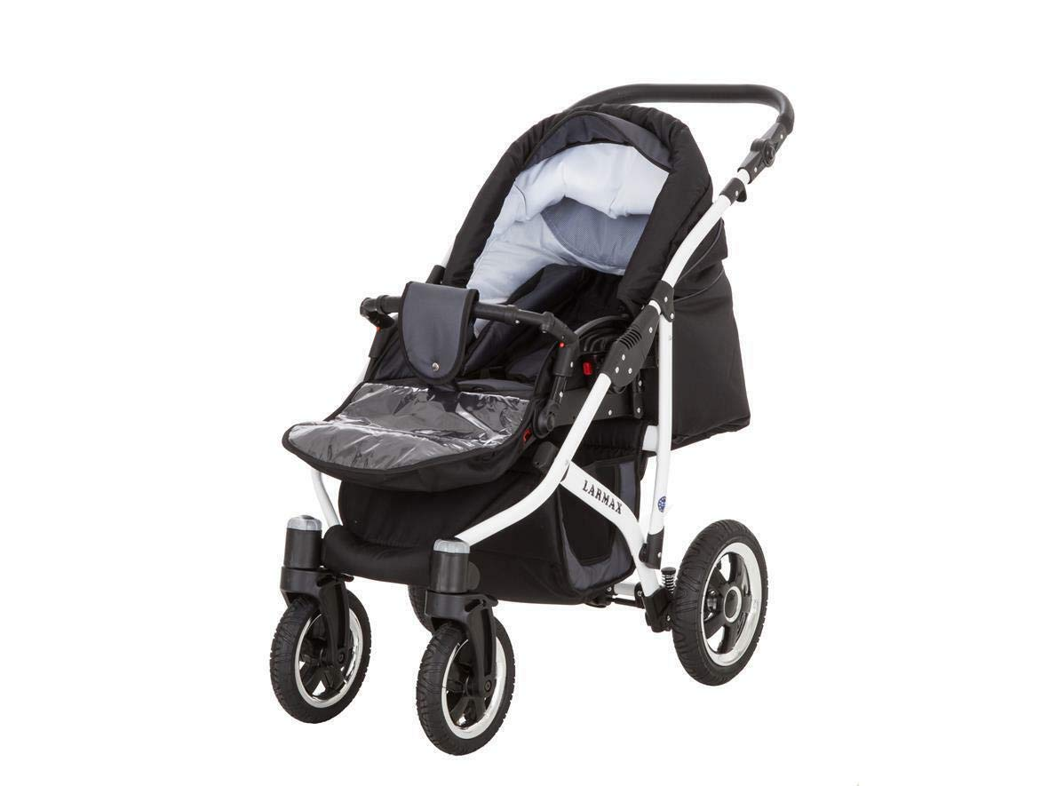 SaintBaby Stroller Pram 2in1 3in1 Set All in one Baby seat Buggy Pushchair New L-GO Black 3in1 with Baby seat SaintBaby 3in1 or 2in1 Selectable. At 3in1 you will also receive the car seat (baby seat). Of course you get the baby tub (classic pram) as well as the buggy attachment (sports seat) no matter if 2in1 or 3in1. The car naturally complies with the EU safety standard EN1888. During production and before shipment, each wagon is carefully inspected so that you can be sure you have one of the best wagons. Saintbaby stands for all-in-one carefree packages, so you will also receive a diaper bag in the same colour as the car as well as rain and insect protection free of charge. With all the colours of this pram you will find the pram of your dreams. 9