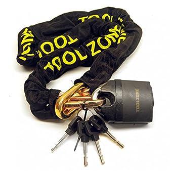 Moto Moto Moto Chaîne de sécurité Verrouillage Disque cadenas robuste 1.1M TE149