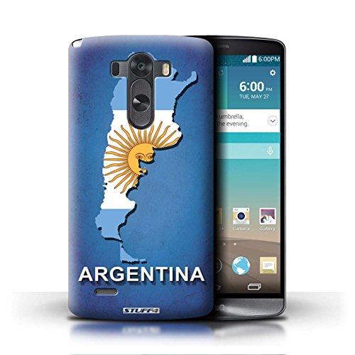 Kobalt® Imprimé Etui / Coque pour LG G3/D850/D855 / Chine/Chinois conception / Série Drapeau Pays Argentine