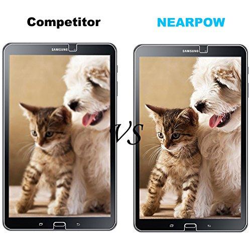 Samsung Galaxy Tab A 10.1 Panzerglas Displayschutzfolie, Nearpow Schutzfolie 9H Härte, Anti-Kratzen, Anti-Öl, Anti-Bläschen, Anti-Fingerabdruck - 6