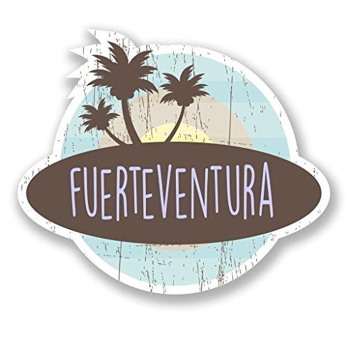 Preisvergleich Produktbild 2x Fuerteventura Vinyl Aufkleber Aufkleber Laptop Reise Gepäck Auto Ipad Schild Fun # 6765 - 10cm/100mm Wide