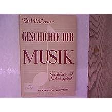 Geschichte der Musik. Ein Studien- und Nachschlagebuch.