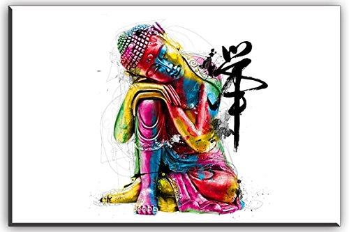 """Piy Buda lienzo pared arte, Zen cuadros en lienzo para dormitorio (1""""de grosor, resistente al agua, listo para colgar) 4"""