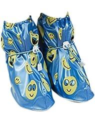 Babysbreath Cubierta antideslizante de los zapatos Cubierta antideslizante de los zapatos de los niños Cubierta antideslizante del zapato del espesamiento azul L