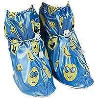 Babysbreath Cubierta Antideslizante de los Zapatos Cubierta Antideslizante de los Zapatos de los niños Cubierta Antideslizante del Zapato del Espesamiento Azul M
