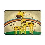 Use7 Fußmatte für Innen- und Außenbereich, Giraffenmotiv, 60 x 40 cm