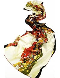 Prettystern - 160cm langer Seidenschal, Kunstdruck Gustav Klimt, Seide