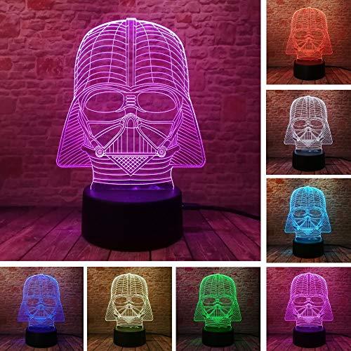 3D Devil LED 7 color táctil luz nocturna iluminación