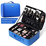 Durable Makeup Case ROWNYEON Makeup Travel Case is made of Japan imported zipper and top-grade oxford fabric. Possessing functions such as easy to clean, waterproof, shakeproof, anti-wear and extrusion prevention. The oxford fabric and the top-grade ...