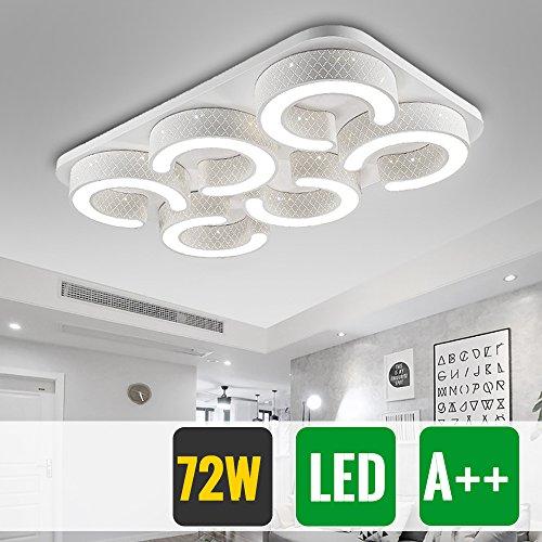 HG® 72W LED Deckenleuchte Moderne Wand-Deckenleuchte Korridor Leuchte Treppen Sparsame Dauerbeleuchtung Weiß Badlampe