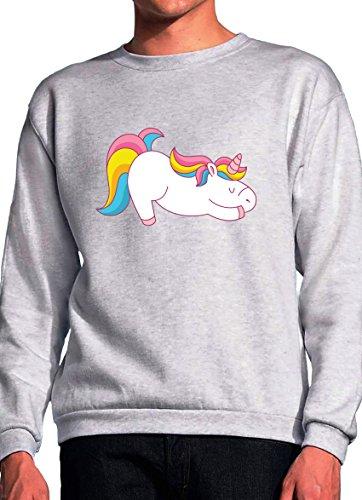 2893680c7951a BlackMeow Unicorn Yoga Funny Design Grey Unisex Sweatshirt - Small