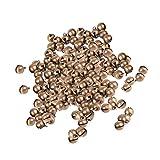 Sharplace 100stk Glöckchen Schellen Glocken aus Metall - mit Öse - Weihnachten - Bronze, 8mm