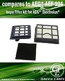 Kit de Filtros HEPA para aspiradoras AEG / Electrolux / Tornado / T 8. Reemplaza a AEG AEF 104....