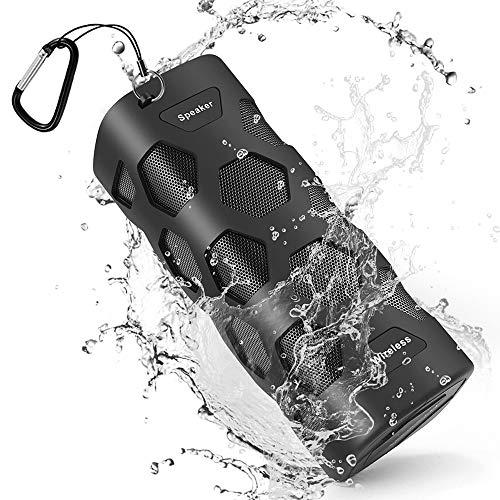 Bluetooth Lautsprecher Wasserdicht Tragbarer Lautsprecher Boxen Bluetooth, Reinem Bass 20W Dual-Treiber Bluetooth Box mit Eingebauten Mikrofon, 24 Stunden Spielzeit, 5200mAh laden Sie Ihr Telefon auf
