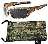 Hornz Brown Forest Camouflage Polarisierte Sonnenbrille für Männer Full Frame Starke Arme & Free Matching Microfaser Beutel – Brauner Tarnrahmen - Rauchobjektiv