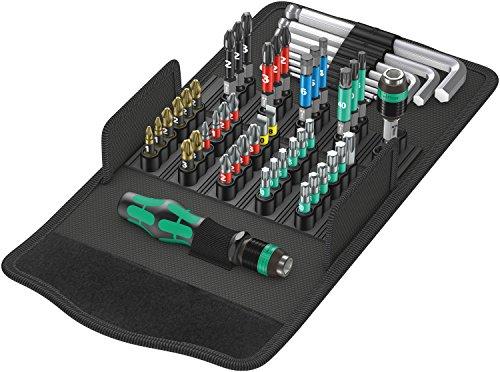Wera Werkzeug-Set, Kraftform Kompakt 100, 52-teilig, 05057460001 (Profil-bit-set)