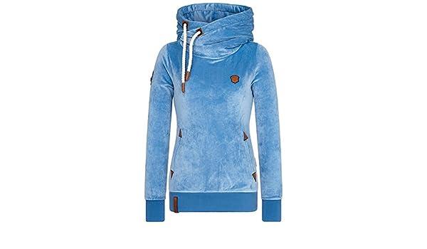 Naketano Darth Mack Velour Mellow Blue: : Bekleidung