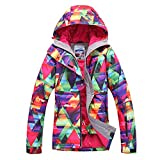 APTRO Damen Skijacke warm Jacke gefüttert Winter Jacke Regenjacke Bunte 912 S