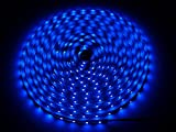 SET: 5m LED Leiste Streifen Stripe Strip 300LED/5m (60LED/1m) blau 12V DC, IP20