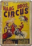 HAAG Bros Circus Jerry Burrell Blechschilder Vintage Metall