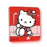 Hello Kitty Lichtschalter Wandsticker selbstklebend Kinder Aufkleber Hello Kitty Cartoon Motiv Deko Schalter- CartoonPrintDesign - L029