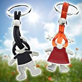 Schlüssel-Duett Freudensprünge - Partner Schlüsselanhänger mit Ihrer individuellen Gravur
