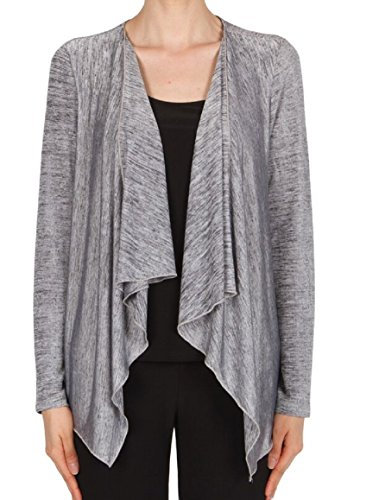 Joseph Ribkoff Mock Two-piece Silver Melange Cover-Up with Jersey Tank Style 174440 Size 8 -