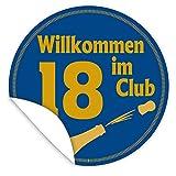 Wilkommen im Club 18 + Aufkleber + inkl.