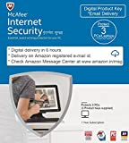 #10: McAfee Internet Security - 3 Users, 1 Year (Email Delivery in 2 Hours - No CD) (CD)
