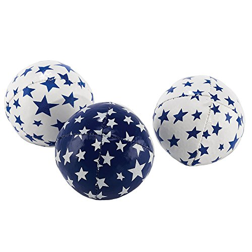 Eureka-Acrobat 52475062 - Jonglierbälle Junior, Outdoor Spielgerät, 80 g, 3 Stück, weiß/blau