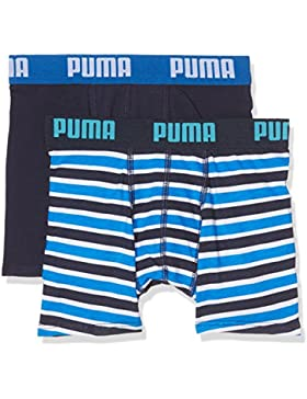 Puma Basic Boxer Printed Stripe 2P, Bóxer para Niños, Azul (Blue), 152 (Talla de fabricante: 11-12 Años)