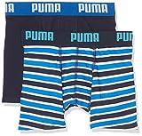 Puma Jungen Basic Boxer Printed Stripe 2p Boxershorts,Blau(Blue),152 (Herstellergröße: 11-12 Jahre)