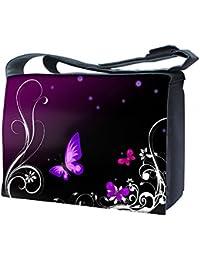Luxburg® nb-sb-15600–17–01.99Design sac bandoulière pour ordinateur portable 17Avec Bandoulière–Papillons Art
