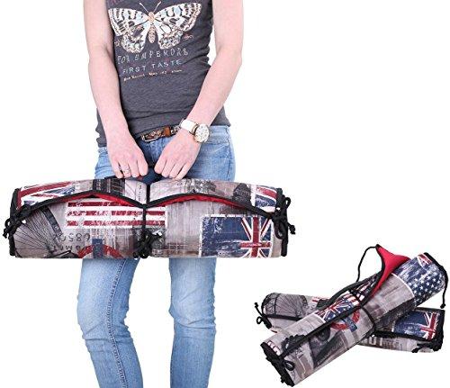 Knuffelwuff Tragbare Reisematte Linea Travel Exclusive Edition Flaggen L 90 x 60cm für Haus Garten Auto etc.