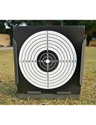 Trampa de perdigones plana con 20 pcs objectivos de papel para Arma/ Pistola/ Rifle de Aire ( Gris) (con 20 pcs Negro objectivos de papel)