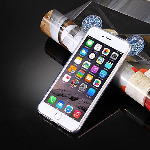 YAN Für iPhone 6 Plus / 6s Plus, Glitzer Powder Mouse Ohr Soft TPU Schutzhülle mit Sling Hole ( Color : Purple ) Blue