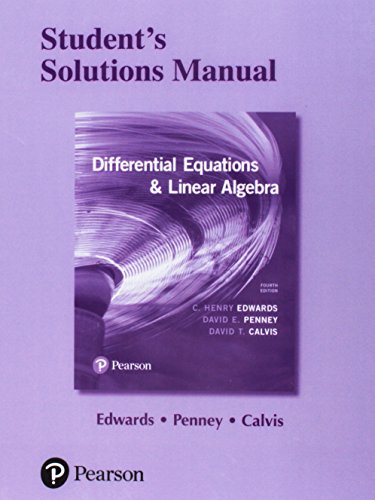 Students' Solutions Manual for Differential Equations and Linear Algebra: Stud Solu Manu Diff E SSP_4