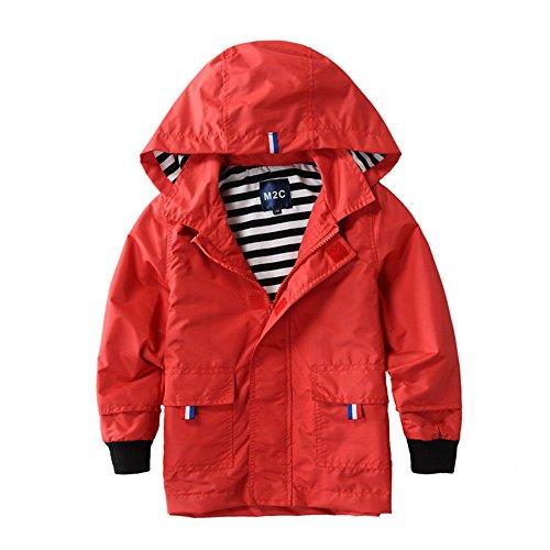 M2C Boys Raincoat Hooded Jacket Waterproof Coat Outdoor Light Windbreaker