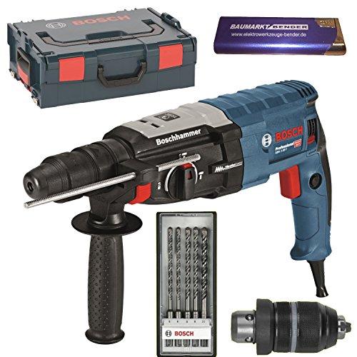 Preisvergleich Produktbild BOSCH Bohrhammer GBH 2-28 F + L-BOXX + SDS Plus SDS-Bohrer-SET 5 teilig 0611267601 + Feuerzeug