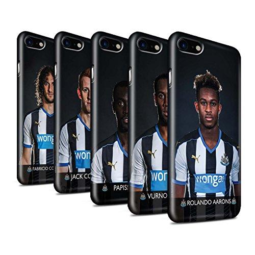 Offiziell Newcastle United FC Hülle / Glanz Snap-On Case für Apple iPhone 7 / Elliot Muster / NUFC Fussballspieler 15/16 Kollektion Pack 25pcs
