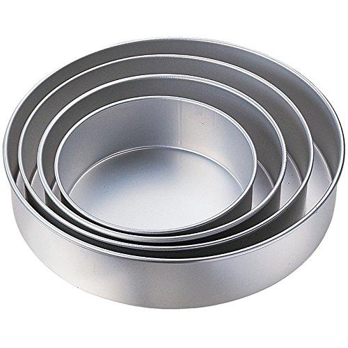 Kabalo 5pc Mariage Gâteau Tin Pan CUISSON plateau rond de calques (diamètres: 24, 26, 28, 32, 36cm) moules à gâteaux