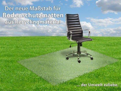 Bodenschutzmatte transparent für Hartböden, Größe: 92 x 122 cm, Öko-Label Blauer Engel
