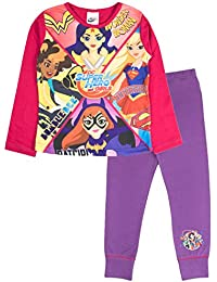 Lora Dora Marvel/DC Comics Super Hero Girls Pyjamas Kids Wonder Woman Hulk Long PJS Set Size UK 4-12 Years