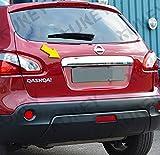 Nissan Qashqai Chrom Edelstahl Heck Klappe Kofferraum Leiste über Kennzeichen