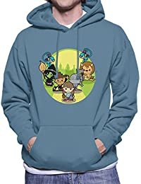 Wizard of Oz Dorothy And Friends Yellow Brick Road Men's Hooded Sweatshirt